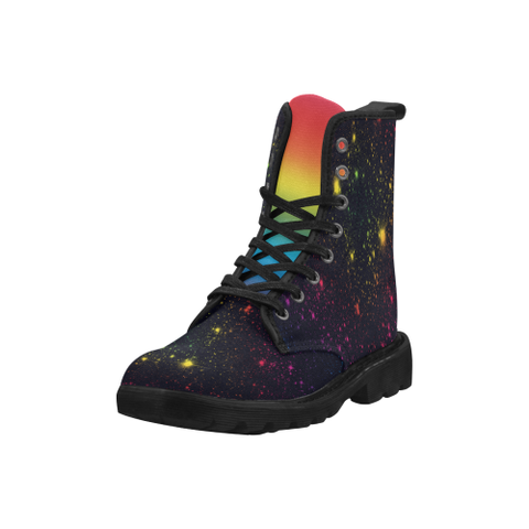 Night Sky and Rainbow Martin Style Boots for Men