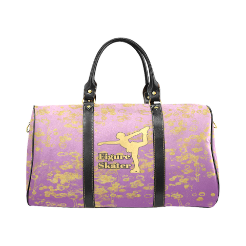 Figure Skate and Gold Flakes - New Waterproof Travel Bag/Large-Style 5