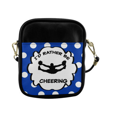 I'd Rather Be Cheering-Sling Bag Cell Phone Holder