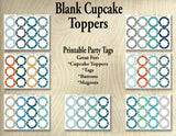 Blank Printable  Cupcake Toppers - Printable Party Favors