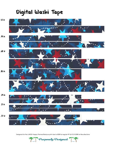 Happy Planner Digital Washi Tape-Patriotic Set