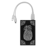 Pineapple Etched Design Power Bank