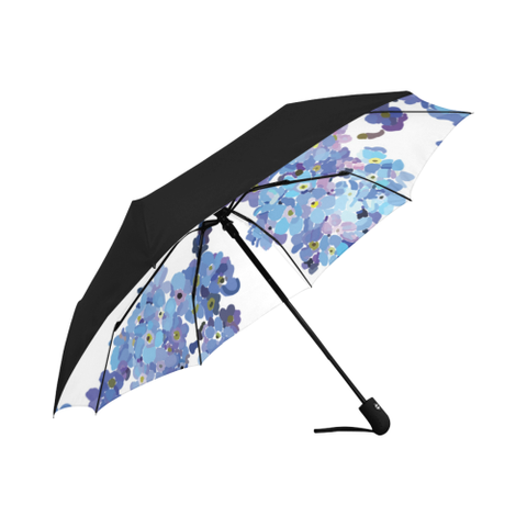 Forget Me Not  Umbrella Anti-UV Auto-Foldable Umbrella (Underside Printing)