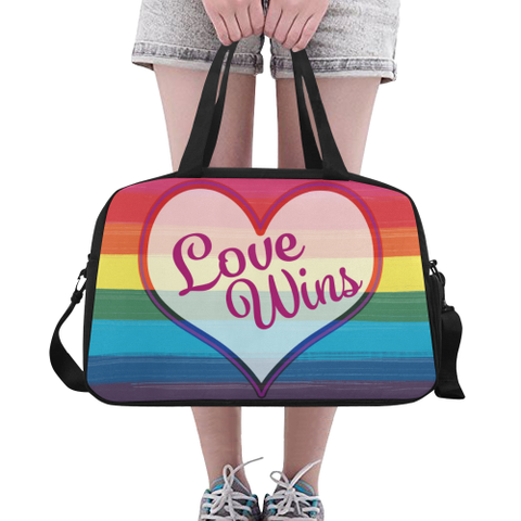 LGBTQ+ Pride_Paint Stroke Flag Weekend Travel Bag