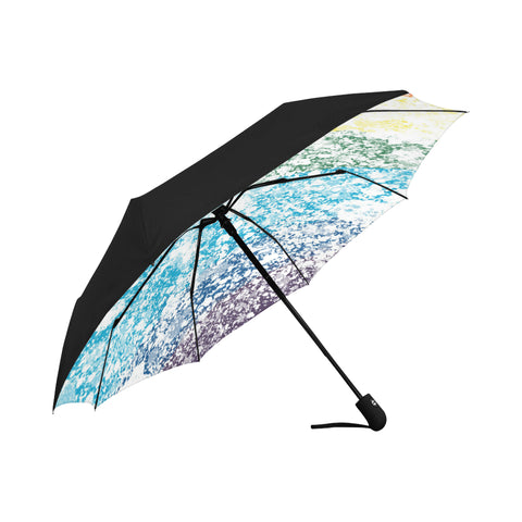 LGBTQ+ Pride Painted Flag Design Anti-UV Auto-Foldable Umbrella (Underside Printing)