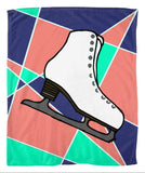 Abstract Skate  Fleece Blanket