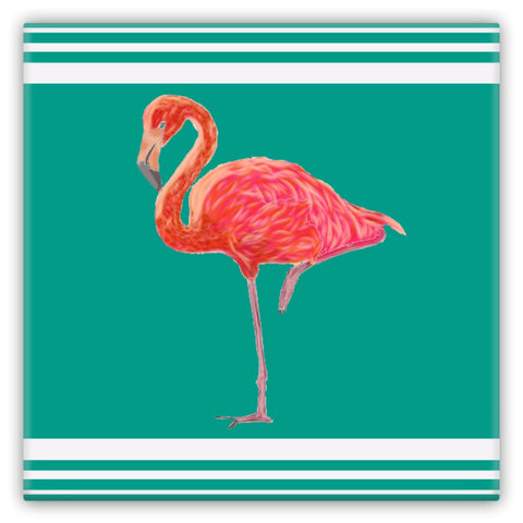 Flamingo Coastal Collection Metal Magnets