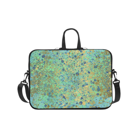 Women's Blues and Gold Patina Design Laptop Handbags 17""