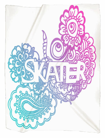 Skater Doodle Minky Blankets in 3 Sizes