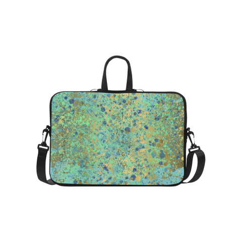 Women's Blues and Gold Patina Design Laptop Handbags 15""
