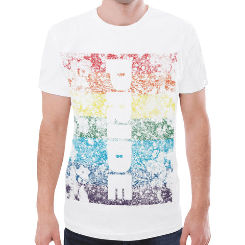 LGBTQ+ Distressed Pride Flag Design Style 3 New All Over Print T-shirt for Men