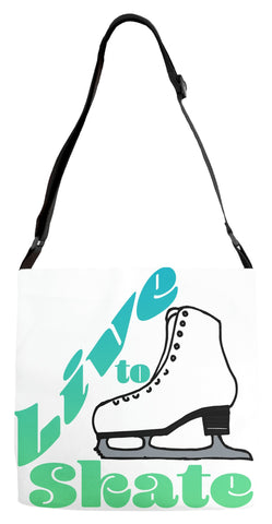 Live to Skate Adjustable Tote Bag