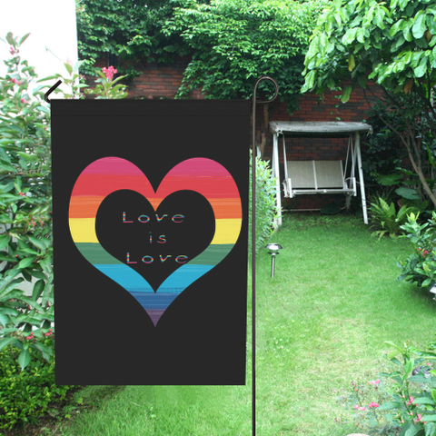 Lgbt Pride Heart Love is Love -Garden Flag 28'' x 40'' (Without Flagpole)
