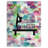 Gymnastics Live Your Dream-Water Color Droplets Design Minky Blankets