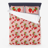 Strawberry Patch Microfiber Duvet Cover