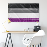 Asexual Pride Flag- Paint Stroke Design