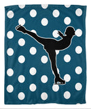 Skater Silhouette Fleece Blanket