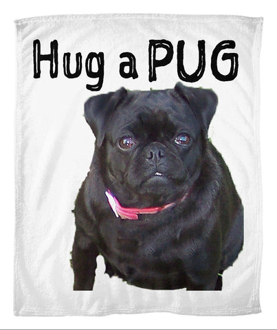 Hug a Pug Fleece Blanket