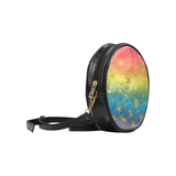 LGBT Gradient and Gold Stars Round Sling Bag