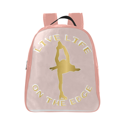 Live Life on the Edge -Children's Small Figure Skating Backpack- Style 3