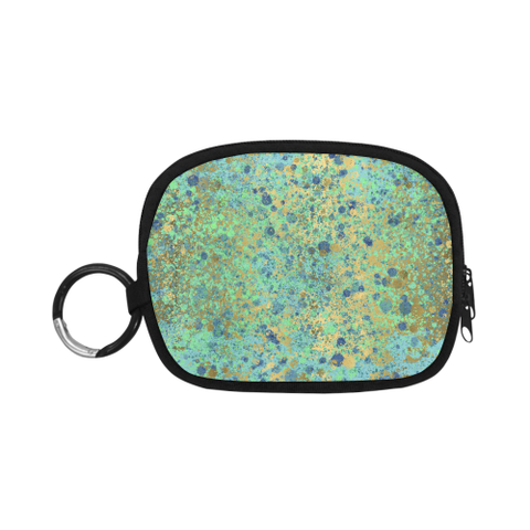 Women's Blues and Gold Patina Design Coin Purse