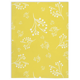 Flourishes in White on Illuminating Yellow Minky Blankets