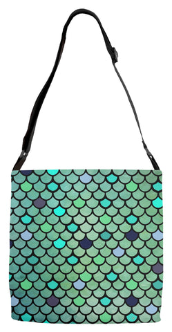 Mermaid Scale Adjustable Tote Bag