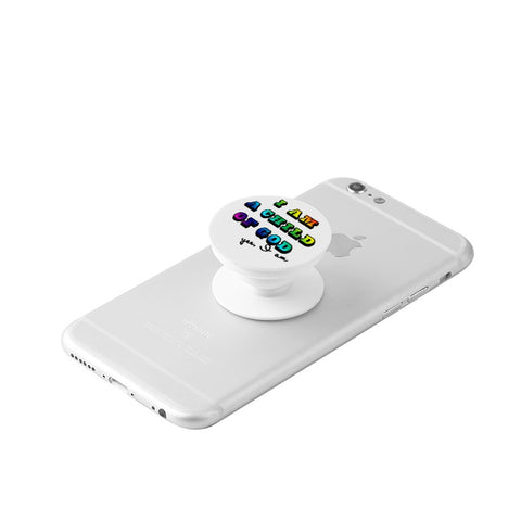 I am a Child of God- Rainbow -White Collapsible Grip & Stand for Phones and Tablets