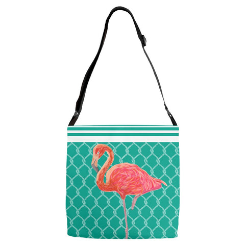 Flamingo Coastal Collection Adjustable Strap Tote Bags