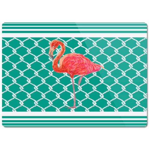 Flamingo Coastal Collection Glass Cutting Board