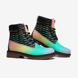 Fishnets in Pastel Rainbow on Black BackgroundCasual Leather Lightweight boots TB-Style 4