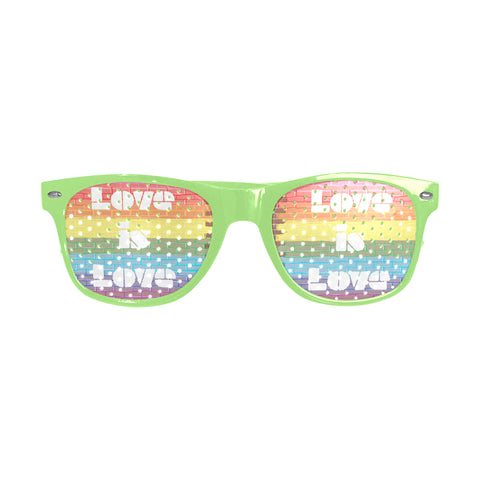 Love is Love Pride Flag Painted Design Custom Sunglasses 5 Colors to Choose From