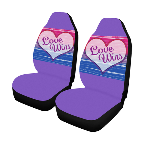 Bi-Sexual Pride Love Wins- Car Seat Covers