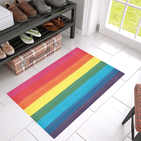 LGBT Pride Paint Stroke Design Doormats-8 Styles to Choose From