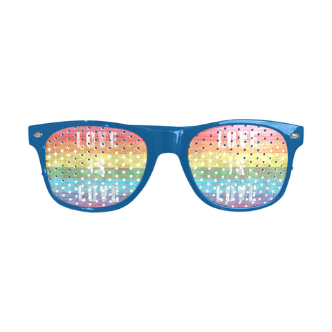 Love is Love Pride Flag Distressed Design Custom Sunglasses 5 Colors to Choose From