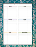 Teachers Planner Pack -9 different one page Planning Calendar's -Instant Download- Printable PDF**Not Editable**