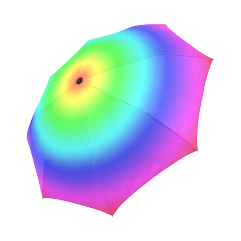 Rainbow Gradient Fully Automatic Umbrella Auto-Foldable Umbrella