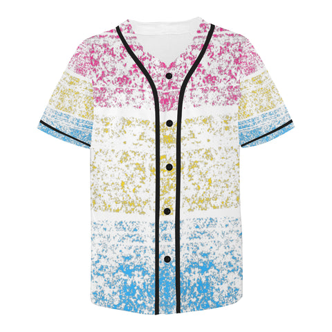 Pan-Sexual-Distressed Design All Over Print Baseball Jersey