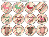 Baby Girl Shower Collection- Printable Party Tags - Cupcake Toppers - Printable Party Favors