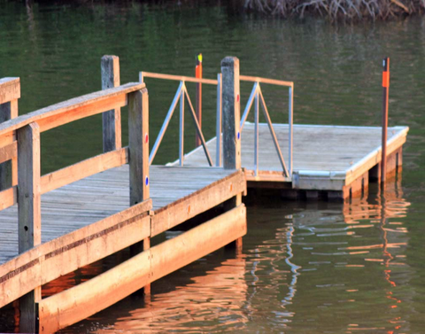 Dock in the Sun-Sunset Over Fort Loudon  Lake In Farragut, Tennessee