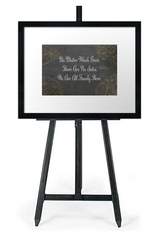 No Matter Which Bride - Wedding Seating Sign Instant Download-Choose a Seat not a Side Sign Template, Printable Choose a Seat Sign