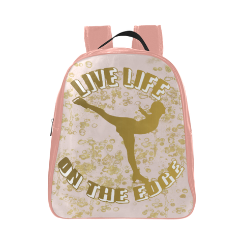 Live Life on the Edge -Children's Small Figure Skating Backpack