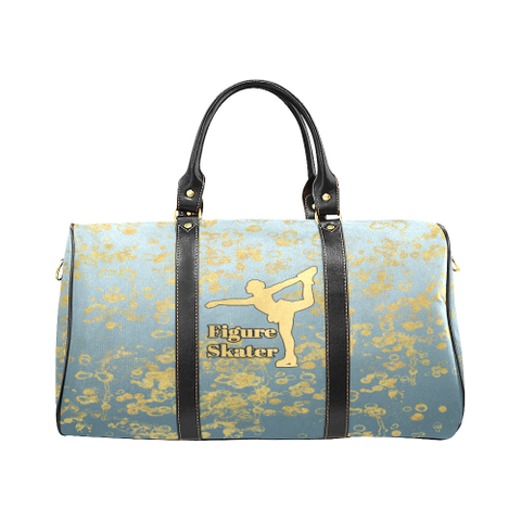 Figure Skate and Gold Flakes - New Waterproof Travel Bag/Large-Syle 6