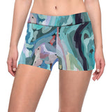 Abstract Painting Design All Over Print Short Leggings by Hxlxynxchxle
