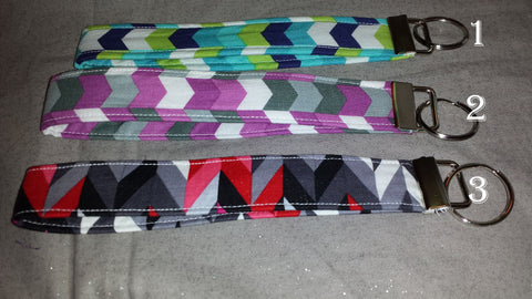 Chevron Collection  Fabric  Key Fob's