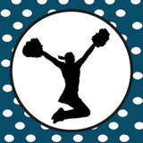 Cheerleading Silhouette Magnets