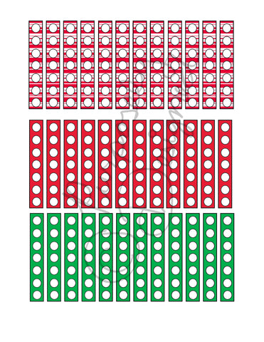 Christmas Check List Planner Sticker Sheet Set 1-Instant Download-Jpeg, PNG