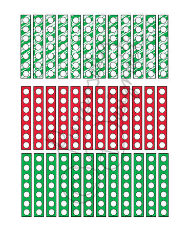 Christmas Check List Planner Sticker Sheet Set 2-Instant Download-Jpeg, PNG