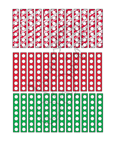 Christmas Check List Planner Sticker Sheet Set 3-Instant Download-Jpeg, PNG