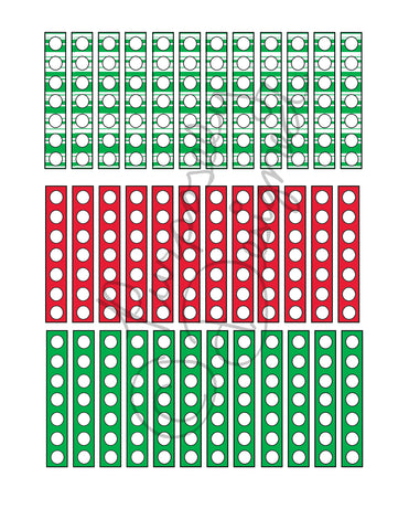 Christmas Check List Planner Sticker Sheet Set 4-Instant Download-Jpeg, PNG